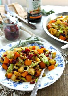 Brussels Sprouts Pumpkin and Apple Hash countryliving