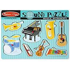 Turn your little one into budding musicians with this Musical Instruments Sound Puzzle from Melissa & Doug! Each piece sounds a new instrument to discover. Toddler Toys, Kids Toys, Kite Shop, Puzzle Crafts, Instrument Sounds, Puzzle Shop, Developmental Toys, Melissa & Doug, Wooden Puzzles