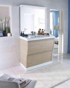 Meubles bois de salles de bains on pinterest bahia for Catalogue salle de bain lapeyre