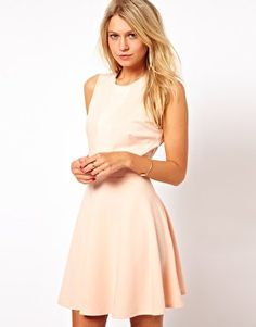 sofiesof's save of Love Skater Dress with Shimmer Insert at asos.com on Wanelo