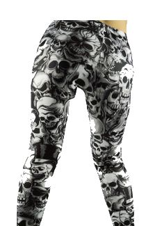 Skull Pattern Steampunk Leggings