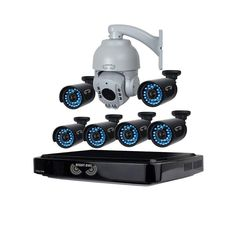 Night Owl 8-Channel HD (AHD) 720p Security System with 1 TB HDD Surveillance DVR,6 x 720p HD Bullet Cams & 720p Outdoor PTZ Camera