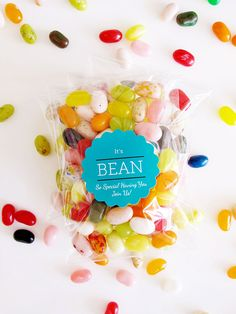 DIY Jelly Bean Wedding Favors - So colorful, it makes makes me in a good mood