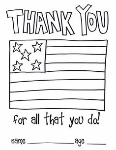 Make a thank you card. Here's a card template for children.