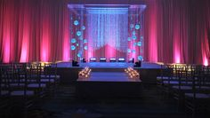 Glow in the dark ceremony at Hilton Orlando.