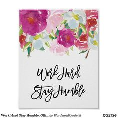 Cute Desk Decor, Cute Office Decor, Office Wall Art, Office Desk, Work Cubicle Decor, Office Cubicle, Decorate Desk At Work, Work Hard Stay Humble, College Dorm Decorations