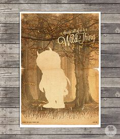 Hey, I found this really awesome Etsy listing at https://www.etsy.com/listing/158810705/where-the-wild-things-are-movie-poster