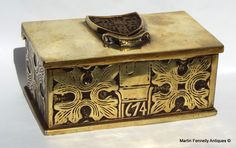 Brass Heavy Box - Cambridge University AD 915 - This Brass Box has thrown up a few questions. - Read more on The Website http://www.fennelly.net/Antiques/Newest%20Listings%20-%20Antique%20Shop%20Dublin%20Ireland/432%20Brass%20Heavy%20Box%20-%20Cambridge%20University%20AD%20915.aspxhttps://www.facebook.com/christscollegecambridge?fref=ts — at Martin Fennelly Antiques