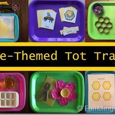 Bee Unit Study with tray activities for Preschool & Kindergarten, Book recommendations too