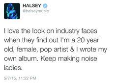 My love for feminist Halsey is astounding