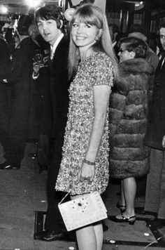 """Jane Asher and Paul McCartney at the premiere of """"How I Won the War,"""" October 18, 1967"""