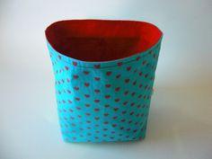 Utensilos & Stoffkörbchen - Stoffkörbchen aus Baumwollstoff mit roten…