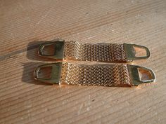 NEW REMOVEABLE GOLDTONE MESH FOR WRAP AROUND CUFFLINKS MENS GIFT VINTAGE STYLE