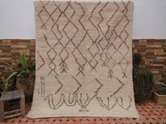ivory beni ourain rug moroccan berber rug 6'3x5ft by moroccowool