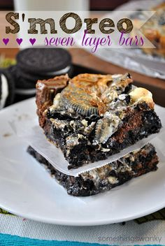 These are every bit as AMAZING as you're imagining they are! Oreos, marshmallows, Hershey bars, chocolate chips, and white chocolate chips. Yum!! Ooey gooey goodness!