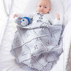 Cabotine nopjes Babydeken Haakpakket Baby Blanket Crochet, Crochet Baby, Crochet Blankets, Crochet Afghans, Baby Blankets, Baby Patterns, Crochet Patterns, Small Crib, Crochet Home Decor