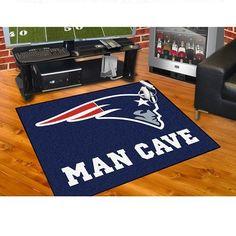 "New England Patriots Man Cave All Star Area Rug Floor Mat 34"" X 45"""