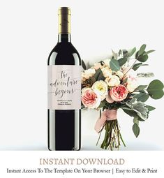 Rustic wooden Wedding Wine Label, Wine Label Templates, Rustic Wine Label, Custom Wine Label Template, Wedding Printable, Download, C1