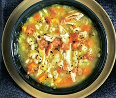 Recipe For Chicken Vegetable Barley Soup How To Cook Barley, How To Cook Corn, How To Cook Shrimp, How To Cook Pasta, Cooking Tofu, Cooking Pumpkin, Cooking Barley, Cooking Ribs, Cooking Pasta