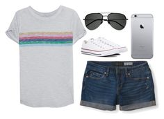 """""""•we're cool for the summer•"""" by randagirl-1 ❤ liked on Polyvore featuring True Religion, Aéropostale, Converse and Yves Saint Laurent"""
