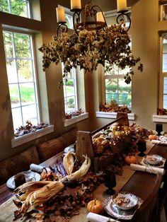 Thanksgiving Table Decoration, Harvest, Centerpiece, dinner~