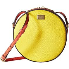 Dolce & Gabbana Borsa A Tracolla St. (Giallo/Aragosta) Cross Body... (1.972.495 COP) ❤ liked on Polyvore featuring bags, handbags, shoulder bags, yellow, handbags purses, yellow crossbody purse, crossbody shoulder bags, shoulder strap handbags and man bag