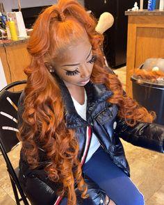 Frontal Hairstyles, Baddie Hairstyles, Ponytail Hairstyles, Weave Hairstyles, Hair Ponytail Styles, Curly Hair Styles, Black Girl Braided Hairstyles, Birthday Hair, Dyed Natural Hair