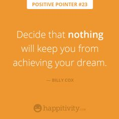 Decide NOW! :)  www.happitivity.com #positivepointer #quote