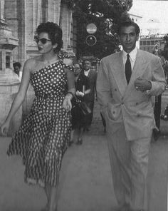 The Shah and Princess Soraya.