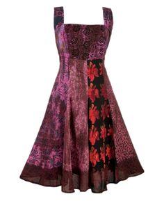 Patchwork Cotton Dress | PR21 | Nomads Clothing