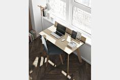 Bureau spécial primaire ligne architekt blanc bois kids room