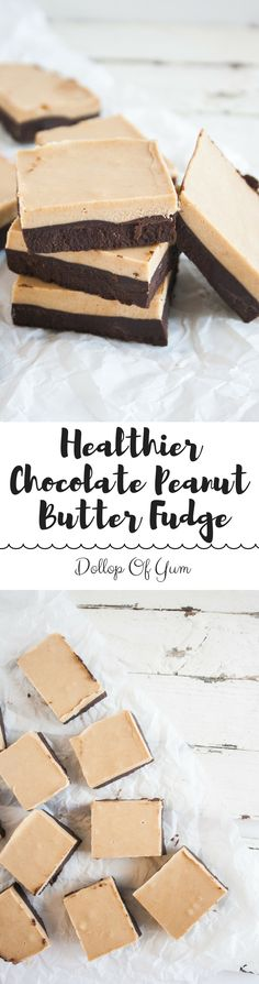 Healthier Chocolate Peanut Butter Fudge