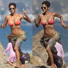 45... motivation! Halle Berry Style, Halle Berry Hot, Halle Berry Bikini, Halley Berry, Beautiful Celebrities, Beautiful Women, Black Magic Woman, Beachwear Fashion, Bikinis