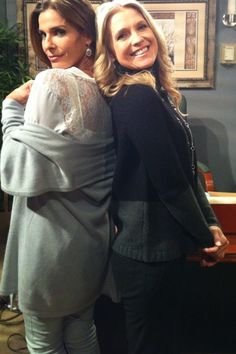 In our Holiday 2012 Collection on set #RWandCO #KristianAlfonso #DaysofOurLives