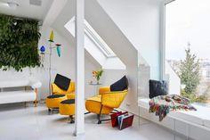 부다페스트의 심장부에있는 쾌적한 흰색 아파트, 생생한 녹색 벽과 대조적 인 색상의 다른 감동 - CAANdesign | 건축 및 홈 디자인 블로그