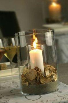 flores secas ideas con velas