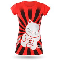 """Maneki neko says """"ohai!""""    Seeing a lucky cat upon entering an establishment makes us feel warm and fuzzy. Of course, we could be saying that because it's often a restaurant we see them in and while we're writing this we're craving dinner. But still. Lucky cat = awesome."""