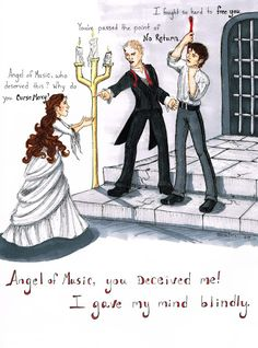 You've tried my patience. Phantom of the Opera down once more / Final Lair. Drawing by Teresa DeLallo Music Theater, Broadway Theatre, Opera Ghost, Music Of The Night, Pixar, Rocky Horror Picture, Love Never Dies, Talent Show, Phantom Of The Opera