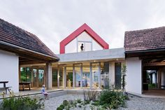 Roof Terrace, Patio Doors, Terrace, Old Farm House Renovation and Expansion in Burgenland, Austria
