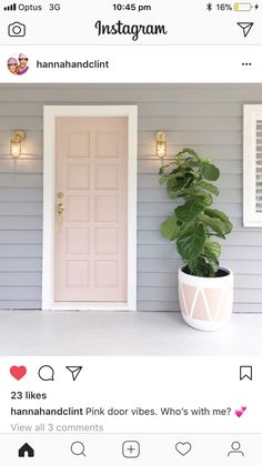 47 Ideas Interior European Style Ideas To Update Your Home - Interior Design Grey Houses, Front Door Colors, House Paint Exterior, Home Reno, House Painting, House Colors, Pergola, New Homes, Interior Design