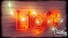 Tutorial Light text Cinema 4D