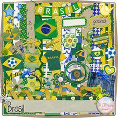 Um lindo kit totalmente inspirado nas cores da bandeira do Brasil. Perfeito para se criar páginas e projetos sobre a copa que vem ai. E vamos juntos torecer pelo nosso querido Brasil! O kit contém 12 papéis e 54 elementos variados. Criados em 300 Dpi de resolução. Arquivos nos formatos Jpeg e Png. R$ 16,00