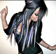 New hair purple white beautiful 30 Ideas Love Hair, Great Hair, Gorgeous Hair, Beautiful, Awesome Hair, Coiffure Hair, Haircut And Color, Dark Hair, White Hair