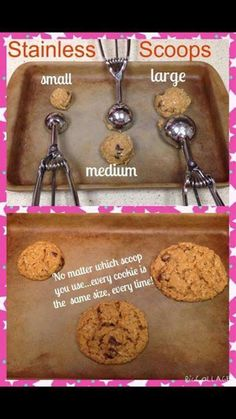 Pampered Chef scoop sizes! Perfect to show sizes!! Www.pamperedchef.biz/drose