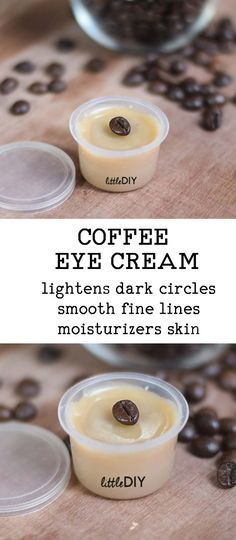 COFFEE EYE CREAM FOR DARK CIRCLES and FINE LINES Dark circles and fine lines appear as we age but can appear prematurely due too stress, dry skin, lack of eye care, spending hours in front of a computer screen, etc. There are a lot of eye creams ava Diy Peeling, Eye Cream For Dark Circles, Eye Circles, Piel Natural, Beauty Care, Beauty Tips, Beauty Products, Beauty Hacks, Beauty Ideas