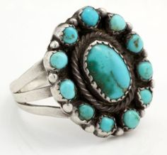 Antique Deco Sterling Silver Navajo Native Pawn Sleeping Beauty Turquoise Ring in Jewelry & Watches, Vintage & Antique Jewelry, Vintage Ethnic/Regional/Tribal, Native American (pre-1935) | eBay