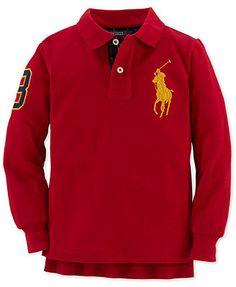 Ralph Lauren Shirt, Little Boys Long-Sleeve Polo