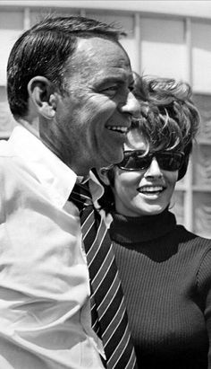 """vegaslegends: """" Frank and Raquel Welch 1968 """"Lady in Cement"""" """""""