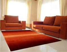 Elegant Carpet Orange Color    This Elegant Carpet Organe Color will accentuate the look of your living room. The bright orange color gives a sense of prestige and well being.  Carpets from our store are  are highly durable, comparatively light weight and impact resistant.     100 % WOOL WITH COTTON BACK    Size: 140x200 cm