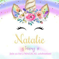 added a photo of their purchase Unicorn Birthday Invitations, Mermaid Invitations, Swim Birthday Parties, Glitter Unicorn, Unicorn Banner, Name Banners, Magical Unicorn, Make Happy
